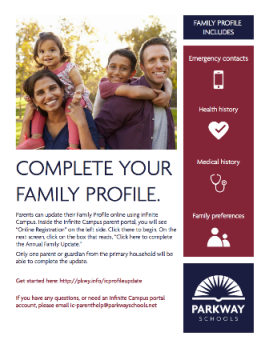 Annual Family Update flyer