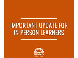 Important update for in person learners
