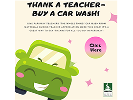 Thank a teacher - buy a car wash