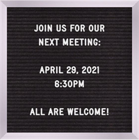 Next Meeting: January 26, 2021, 6:30pm