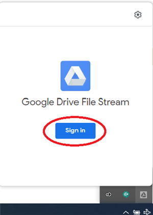 Sign in Drive File Stream